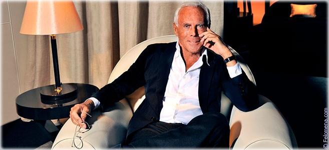 Сегодня родился модельер Джорджио Армани