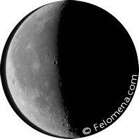 Убывающая луна, третья фаза луны
