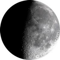 Растущая луна, вторая фаза луны