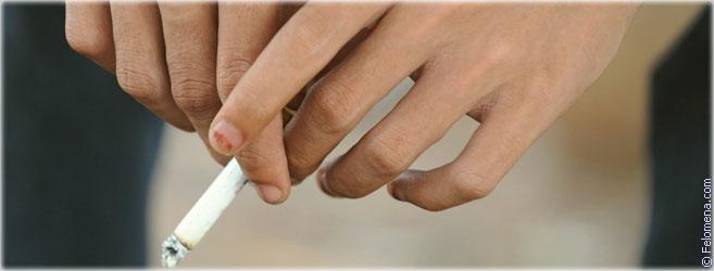 на сигарете