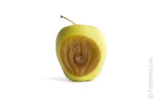 Резать овощи или фрукты, внутри которых гниль, означает, что вы разочаруетесь в партнере или что вас ожидают подвох, измена, обман.